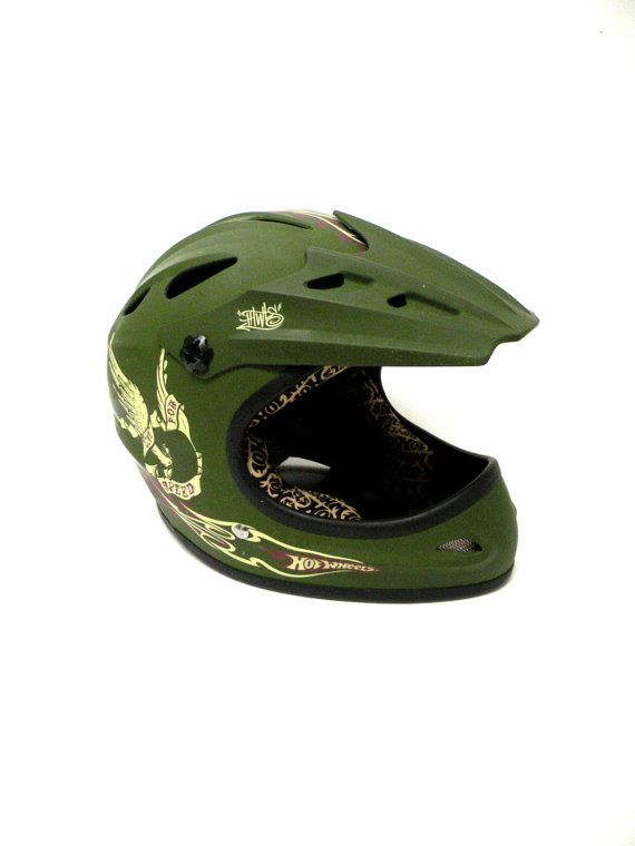SOLD SOLD SOLD ON ETSY Motorcross Helmet Hot Wheels Vintage by UncommonRecycables on Etsy, $68.00