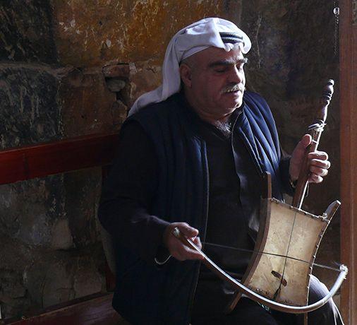 Un músico jordano.