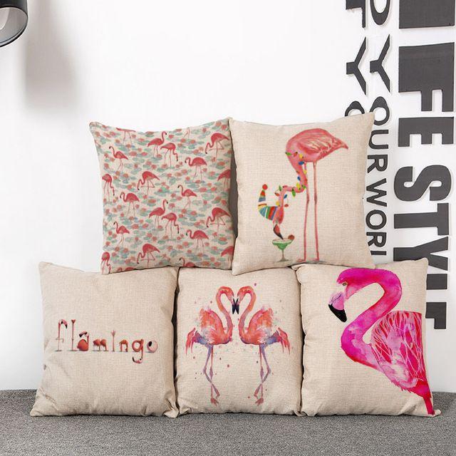 Nueva caliente venta de un conjunto de 5 unids flamencos cojín Textiles para el…