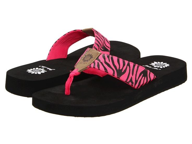 Zebra Yellow Box Flip Flops
