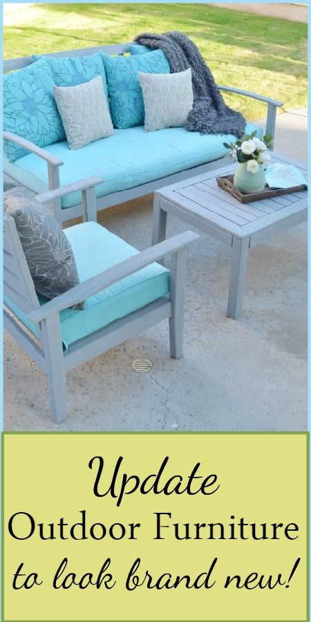 pdate your outdoor furniture with this quick and easy patio furniture painting tutorial