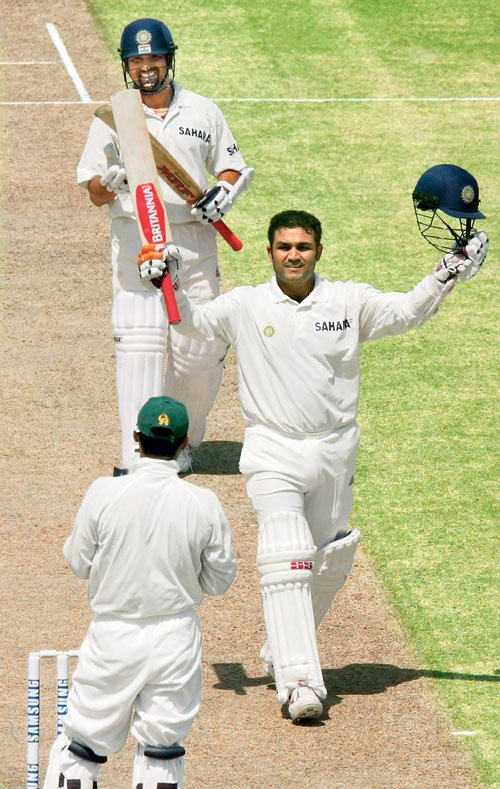 29 March, 2004, Pakistan v India, 1st Test, Multan: Virender Sehwag goes from 295 to 301 with one nonchalant shot and becomes the first Indian to get a triple ton in Tests. #thisdaythatyear