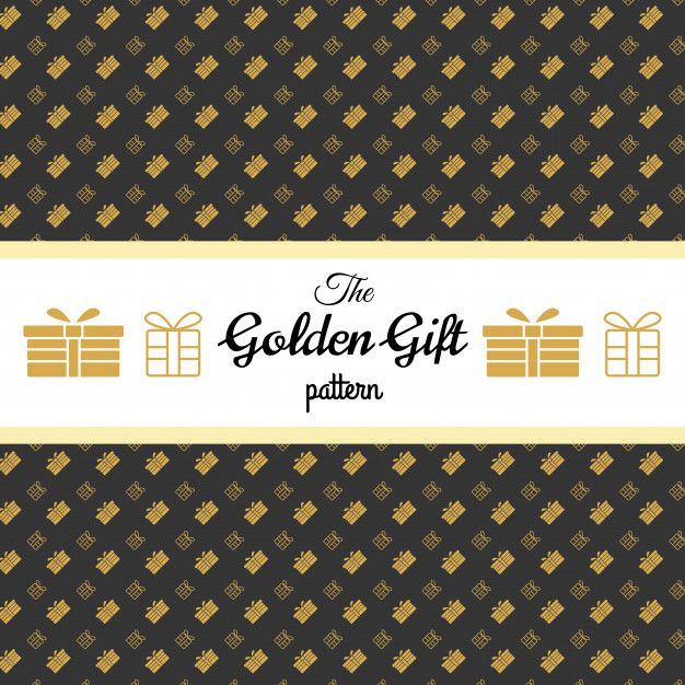 Golden Gift pattern for  wallpaper texture background paper