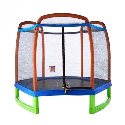 Safe Trampolines for Kids | Trampoline Starter Set | 7' Trampoline & Enclosure Set