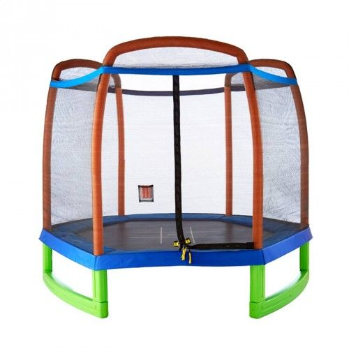Safe Trampolines for Kids | Trampoline Starter Set | 7' Trampoline & Enclosure Set