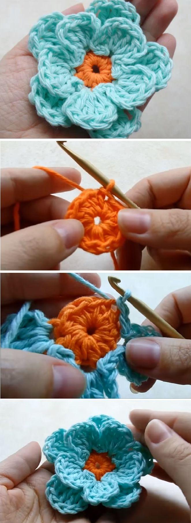 Crochet very Easy Flower step by step