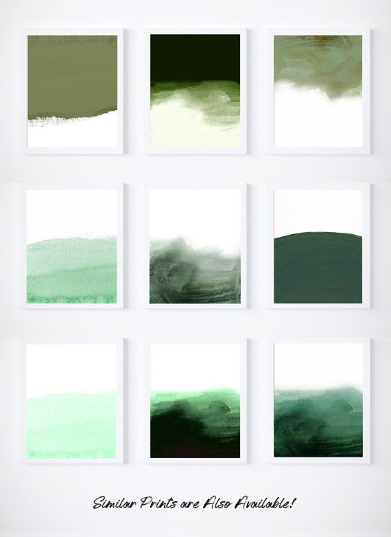 Large Printable Green Painting Abstract Painting Bright Green Painting Print Jade Green Wall Art Green And White Green Art Green Art Print Green Paintings