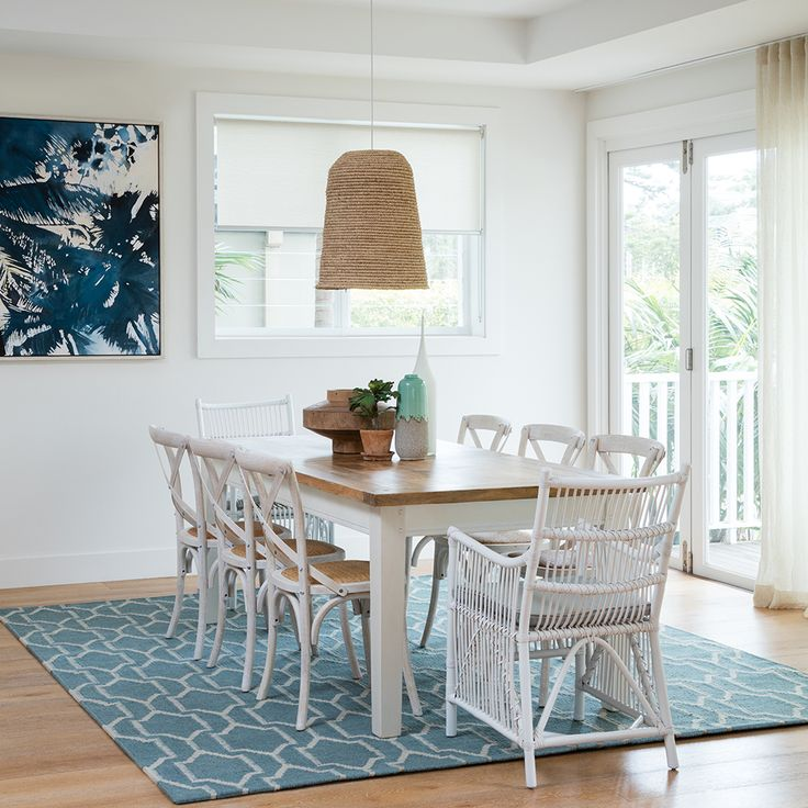 MANGO CREEK dining table creating the coastal space you've always dreamed of. #interiorstyling #coastal #whitetimber