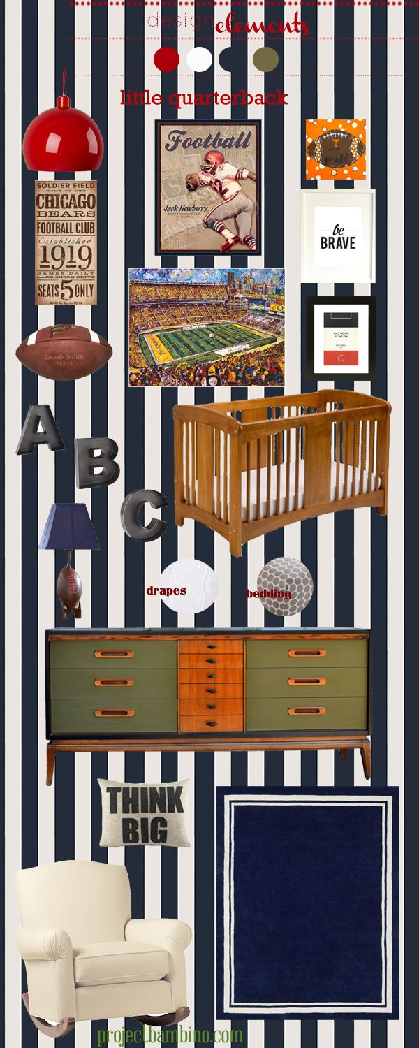 little quarterback #football themed #nursery