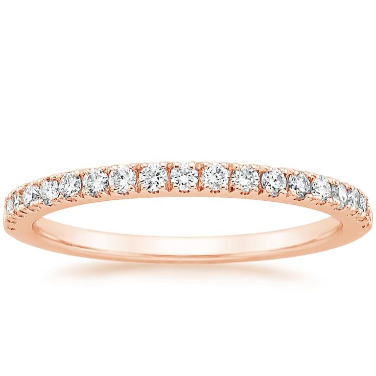 THIS IS 1.7mm --- perfect!!!!  $1,100  Bliss Diamond Ring (1/4 ct. tw.) in 14K Rose Gold