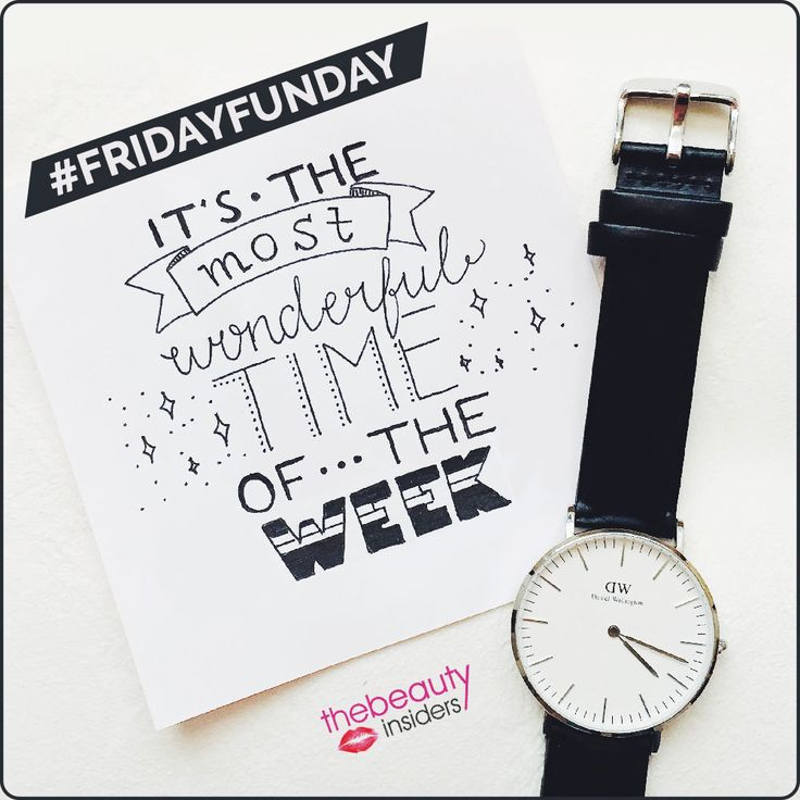 Don't you just love Fridays?#FridayFunday#Weekends www.thebeautyinsiders.com