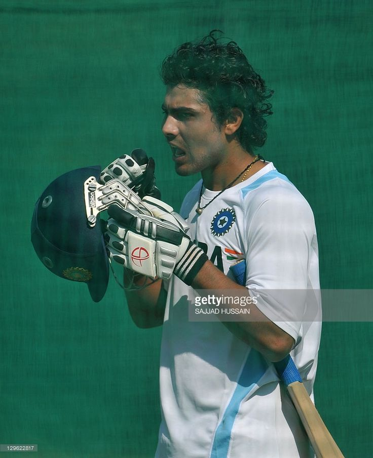 Indian cricketer Ravindra Jadeja prepares to bat during a practise session at the Punjab Cricket Association (PCA) stadium in Mohali on October 19, 2011. On October 20 India will play their third ODI against England.