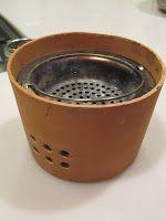 おブログさま: 自作の卓上コンロ(改良の余地あり)で焼き栗