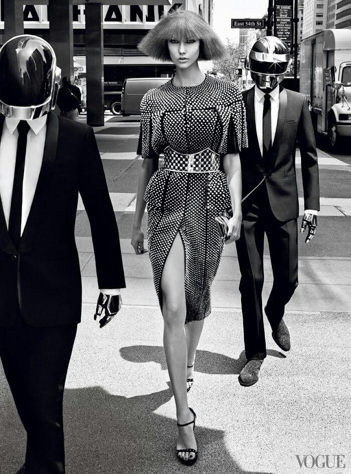 Karlie Kloss and Daft Punk: US. Photographer: Craig McDean