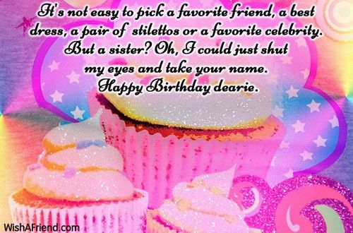 Beautiful birthday wishes for my sister