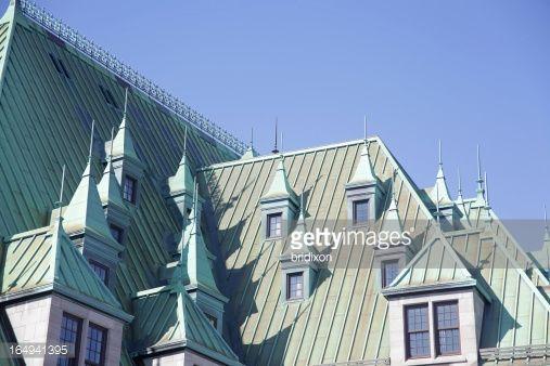 Foto stock : Rame ossidati tetto