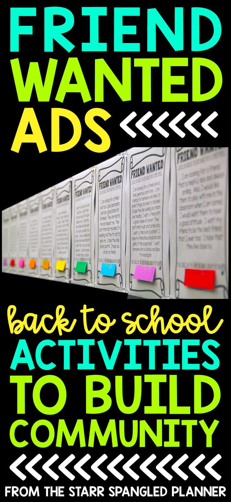 My favorite Back To School Activity! It's the perfect whole class activity to help build community in your classroom at the beginning of the school year. Students share what they are looking for in a new friend, and how they can be a good friend to others. Perfect for first, second, third and fourth grade!