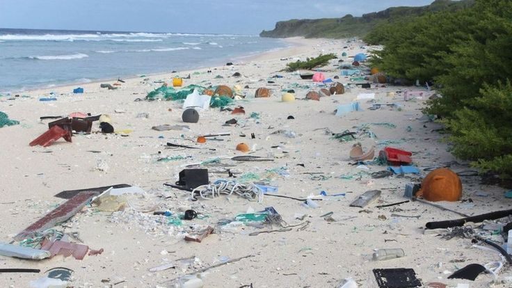 The uninhabited Pacific island is littered with 37.7 million pieces of plastic debris, scientists say.