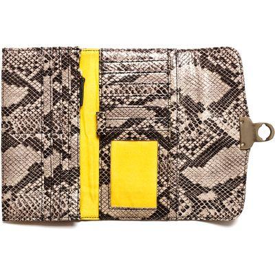 HH clutch wallet in stone graphic python