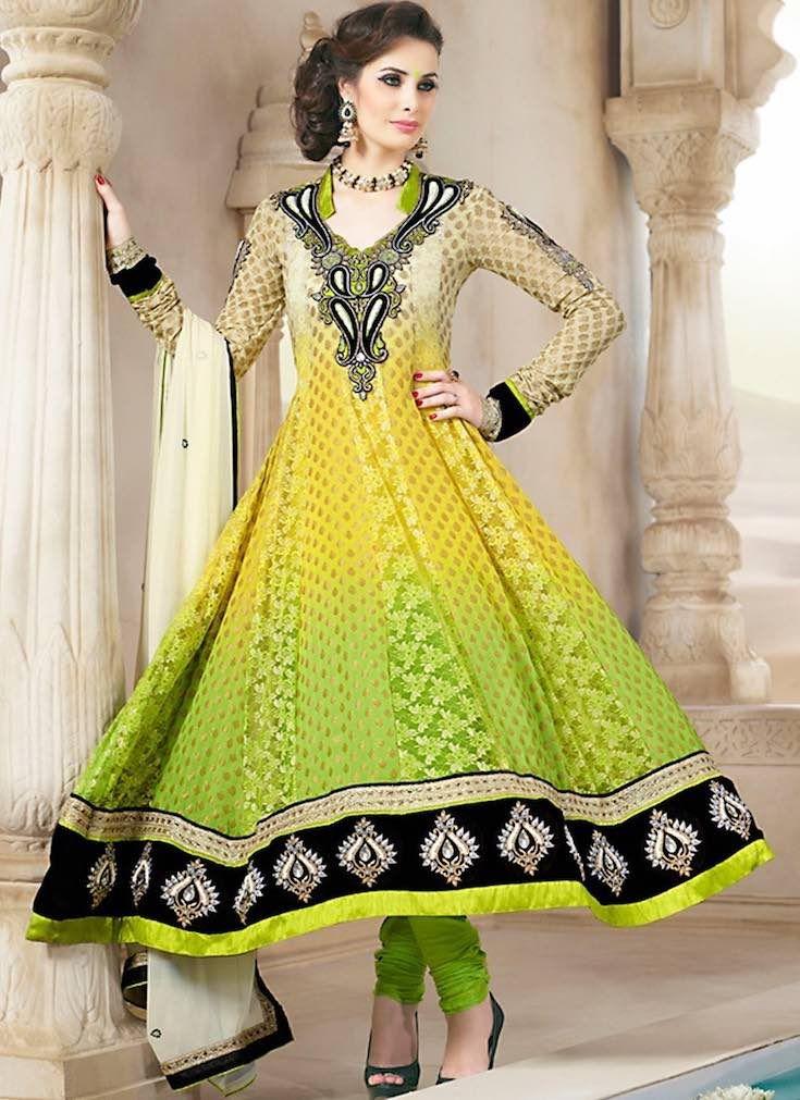 Lime yellow anarkali, Anarkali suits, Simple anarkali, Bridal anarkali, Bridesmaid anarkali, Anarkali dress, Lehenga anarkali, Wedding anarkali, Jacket anarkali Source: Sareeka #Anarkali #anarkalisuits #Indian #indianfashion