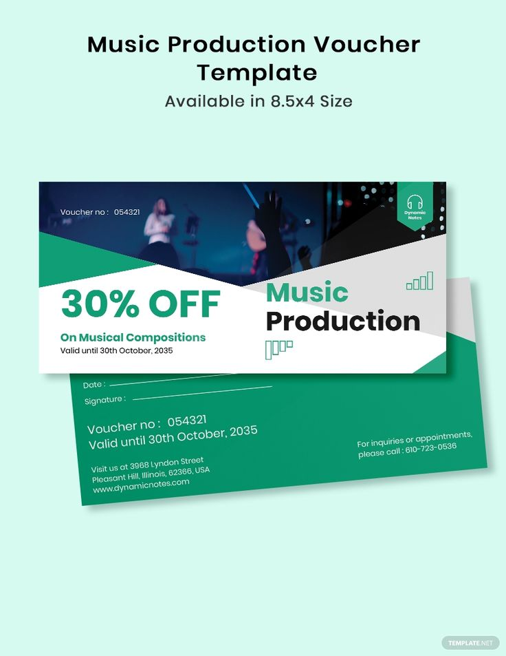 Music Production Voucher Template in 2020 Templates
