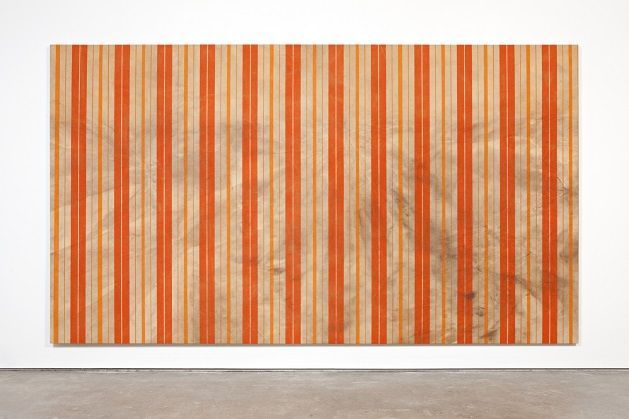 Fredrik Værslev, Untitled (Canopy Painting, Cream and Orange VII), 2012. NN-A NN-A NN-A - Ny Norsk Abstraksjon 13.02.15 - 03.05.15