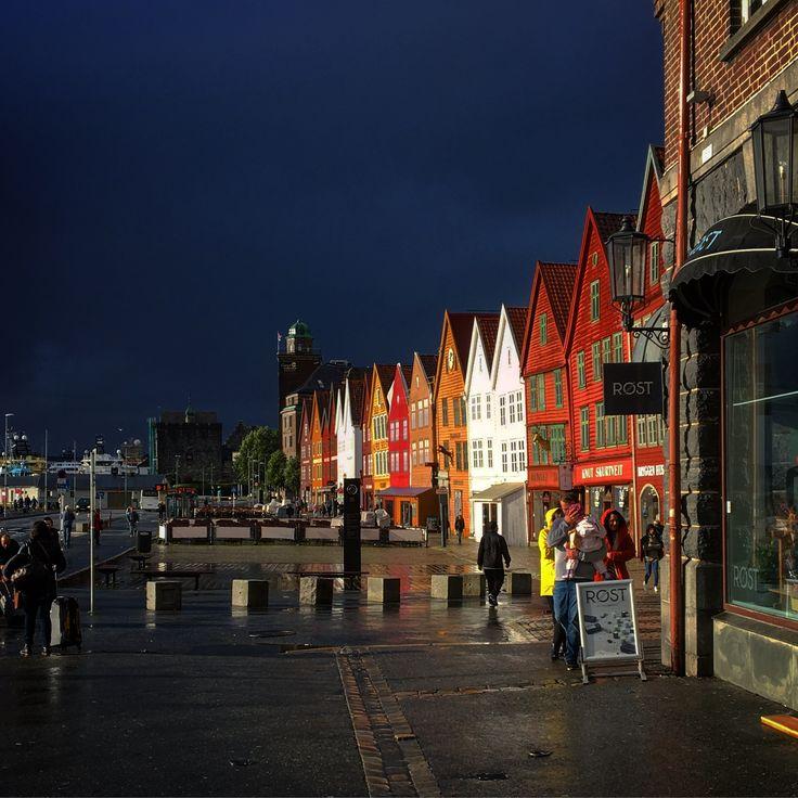Regntung dag i Bergen