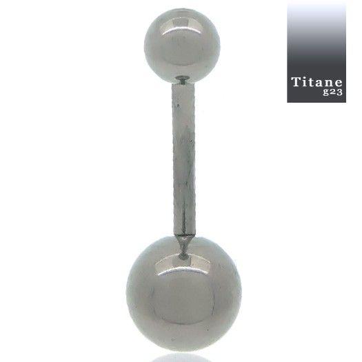 Bijou piercing nombril entièrement en titane