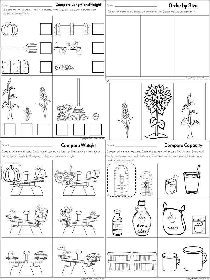 kindergarten non standard measurement worksheets