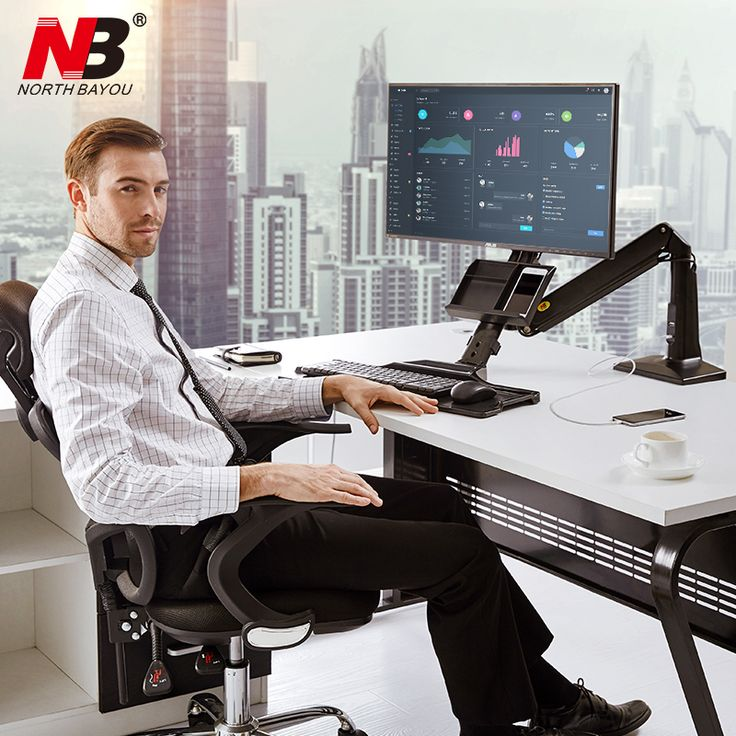NB FC35 Ergonomic Desktop Gas Spring 22 35 inch Monitor Holder With Foldable Keyboard Tray Full Motion Sit Stand Workstation -in TV Mount from Consumer Electronics on Aliexpress.com | Alibaba Group