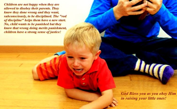 """Children are not happy when they are allowed to disobey their parents. They know they done wrong and they want, subconsciously, to be disciplined. The """"rod of discipline"""" helps them have a new start. No, child wants to be punished but they know that wrong doing merits punishment, children have a strong sense of justice!"""