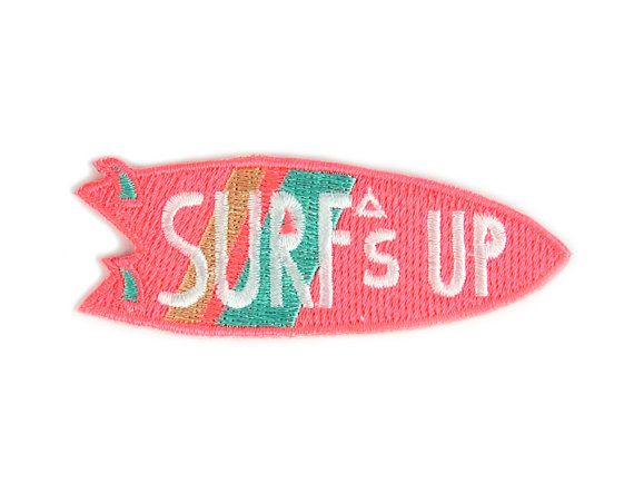 Surf Up Iron sur Patch par MokuyobiThreads sur Etsy
