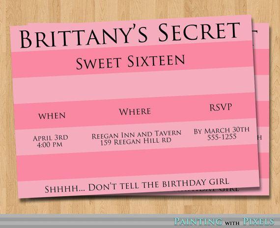 Victoria's Secret Birthday Invitation Printable  by PaintingWithPixels, $8.00