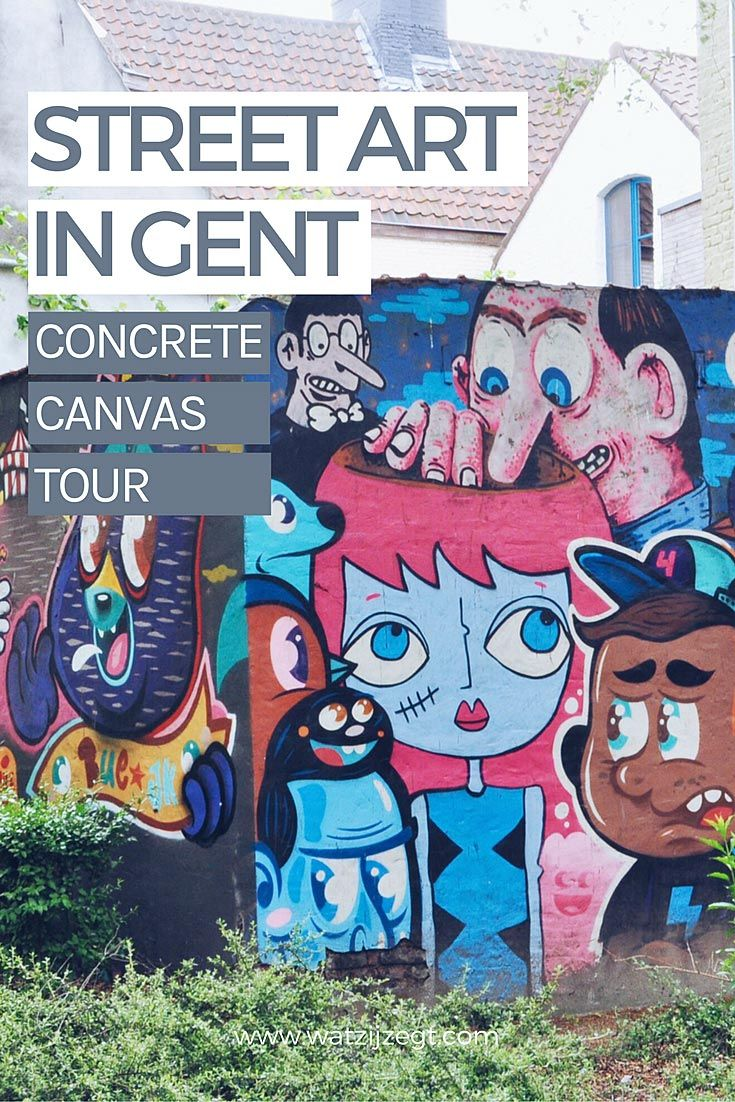 Street art in Gent: don't miss the Concrete Canvas Tour in Gent!