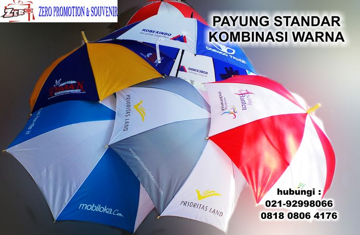 Souvenir payung custom, payung model lipat 2, lipat 3, payung standart, payung golf dengan sablon sesuai pesanan, payung custom dengan warna daun sesuai dengan keinginan
