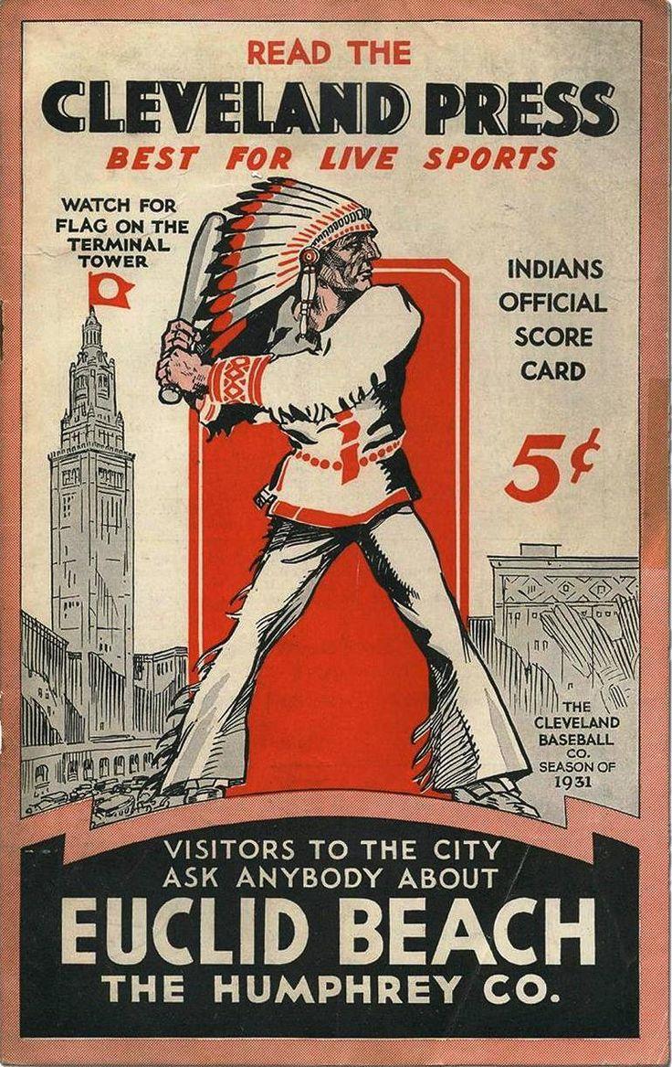 vintagesportspictures:  Cleveland Indians official scorecard (1931)