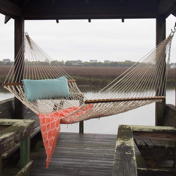 Give the gift of relaxation with a large hammock! | Original Oatmeal DuraCord Hammock by Pawleys Island Hammocks