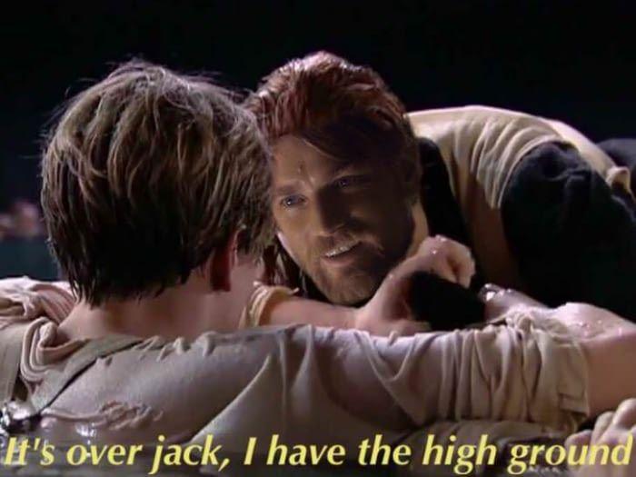 The iceberg had the high ground!