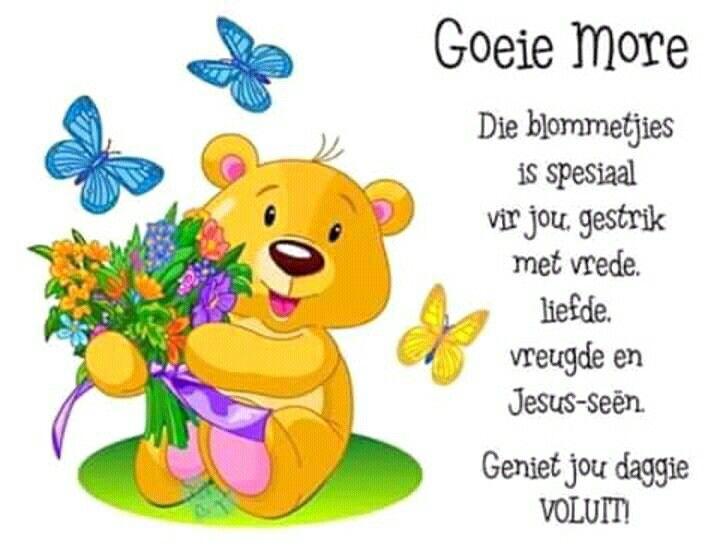 Good Morning Everyone In Afrikaans : Best goeie nag lekker slaap en more images on