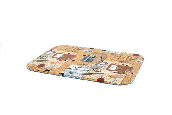 mouse pad coaster stacker vintage office handmade von Arsunica