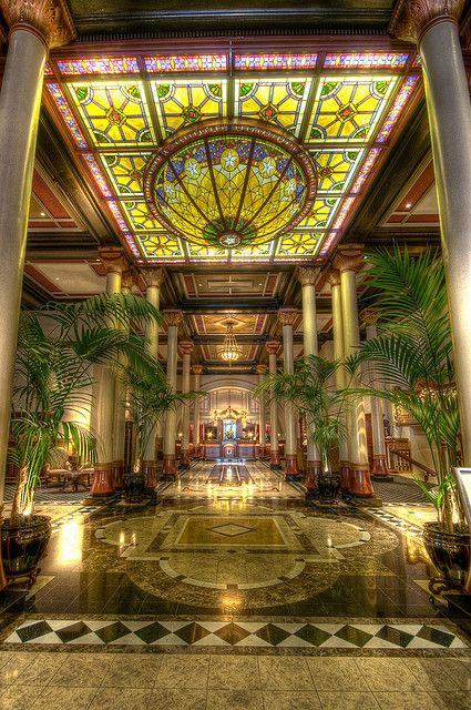 The Lobby of the Driskill Hotel on Austin's famous Sixth Street
