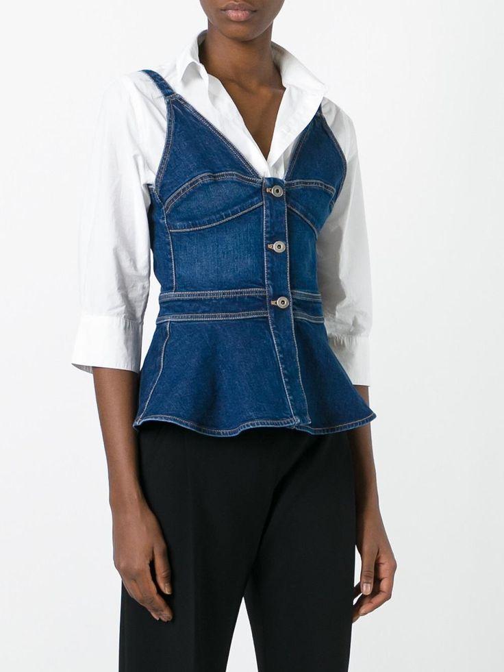Stella McCartney джинсовая блузка с расклешенным подолом