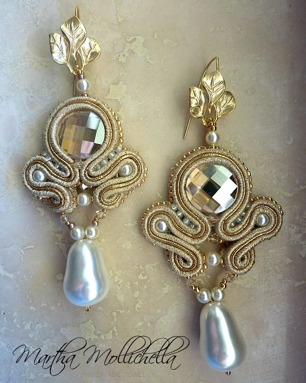 Martha Mollichella: ATHENA - Handmade Soutache Earrings