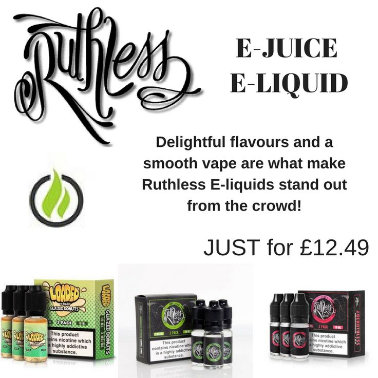 Are you looking for Ruthless E-Liquid in the Uk? then Next Day Vapes is here to provide you Delightful flavours and a smooth vape.