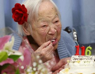 Misao Okawa Celebrates 116 Birthday