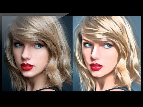 Photoshop: How to transform photograph into digital painting. - YouTube