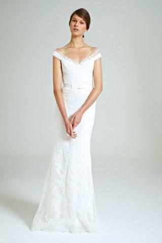 Collette Dinnigan 'Mirabella' Off The Shoulder Lace Wedding Dress