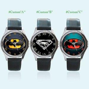 New Round Metal Watch Batman Superman DC Comics Birthday... | Shop entertainment | Kaboodle