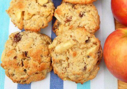 Galletas de avena y manzana sin grasas saturadas ni azúcares refinados