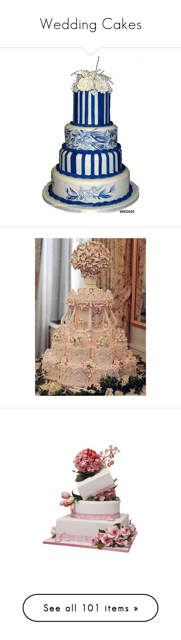 """""""Wedding Cakes"""" by jewelsinthecrown ❤ liked on Polyvore featuring food, cakes, wedding, wedding cake, weddings, cake, fillers, wedding cakes, backgrounds and food and drink"""